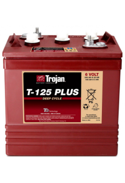 T125 Plus 6V 240Ah Trojan T125+ Minitrac Batterie Eagle Energy