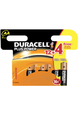 Duracell Plus Power Multipack 12+4 AA, LR 6